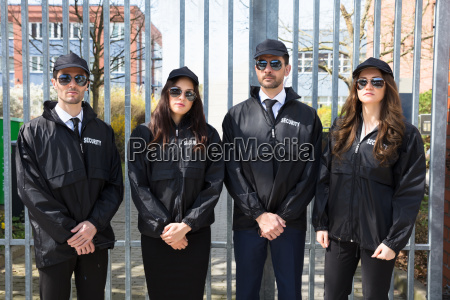 portrait of young security guards