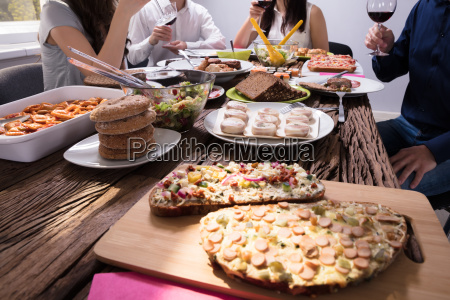 variety of fresh food on table