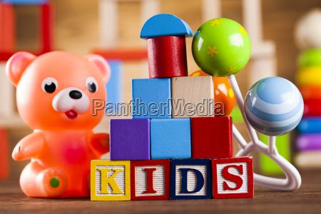 bunte alphabetbloeckebabyspielzeug