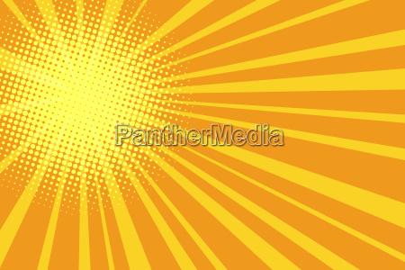 pop art retro yellow orange background