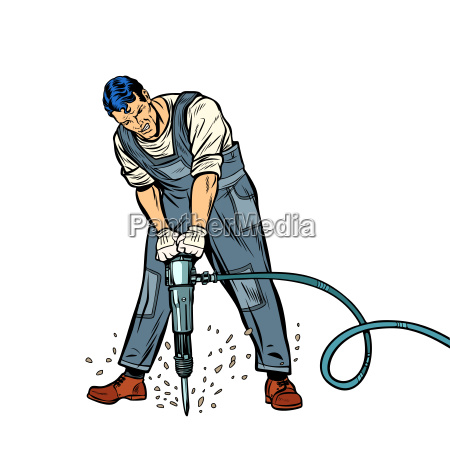working man with jackhammer
