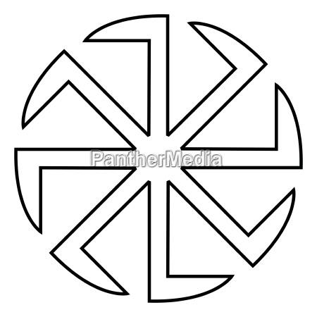 slavic slavonis symbol kolovrat zeichen sonnensymbol