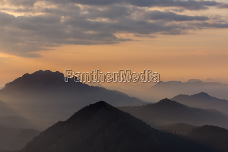 sunrise over the bavarian alps herzogstand