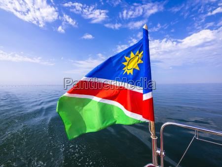 flagge von namibia namibia afrika