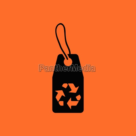 tag and recycle sign icon