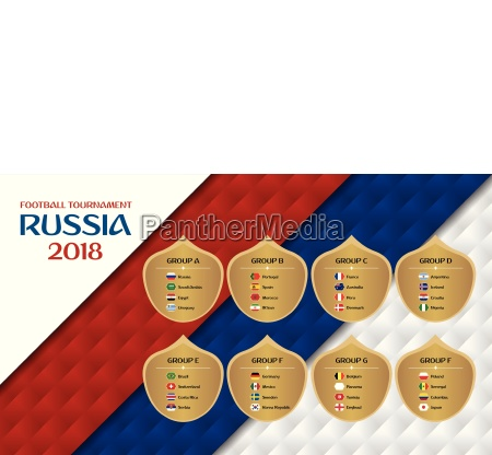 football tournament russia 2018 groups design