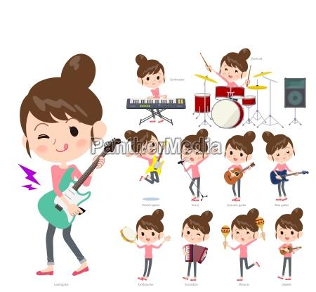 a set of women playing rock