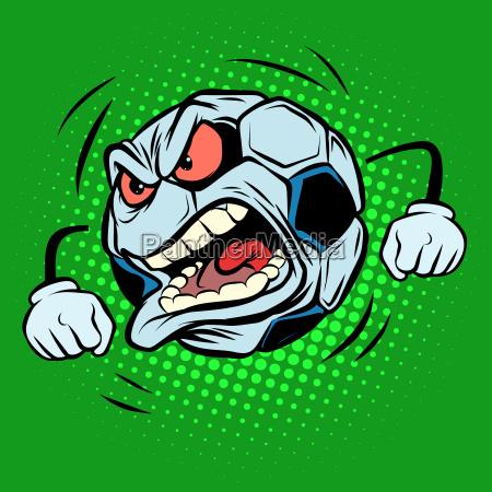 fan anger emotions football soccer ball