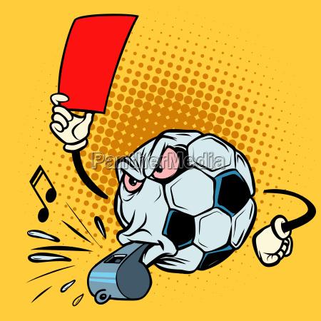 rote karte schiedsrichter pfeifen fussball fussball