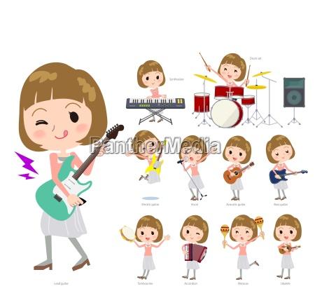 straight, pony, haar, rosa, bluse, women_pop - 25388926