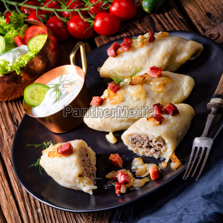 rustic cepelinai a specialty lithuanian and