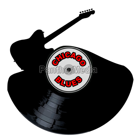 chicago blues music silhouette record