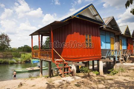 stilt house on the island of