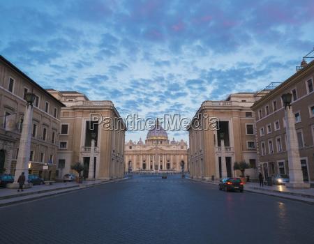 st peters basilica and via della