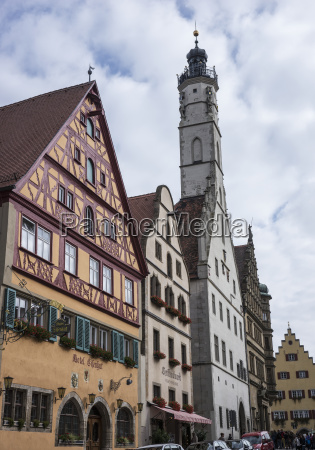 town hall with tower rothenburg germany