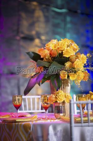 farbenfrohe tischdekoration baltimore maryland usa