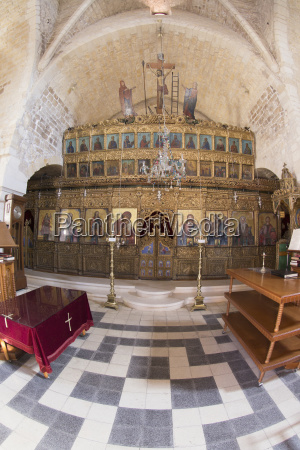 interior of a church arsos limassol
