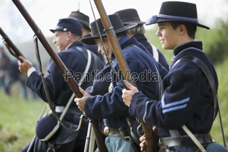 a line of american civil war