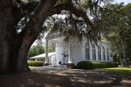 old southern us wooden church building