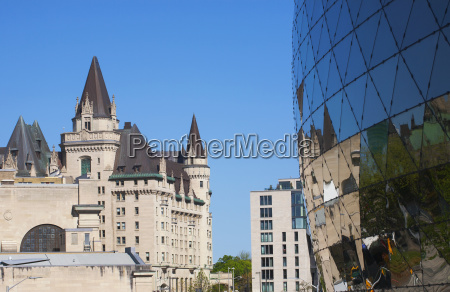 chateau laurier and the shaw centre
