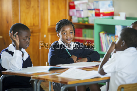 young students working in a classroom