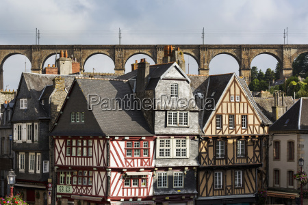 half timbered old buildings with large