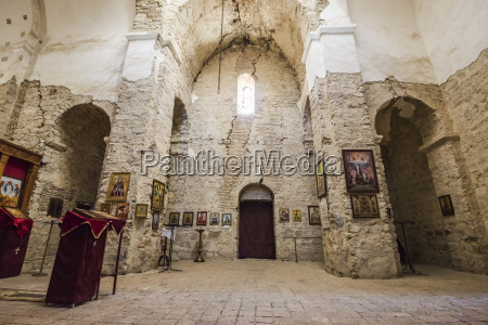 interior of the ancient cathedral at