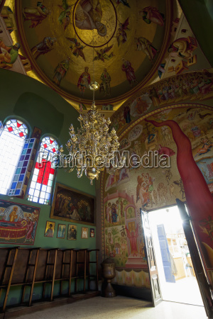 colourful and ornately decorative interior of