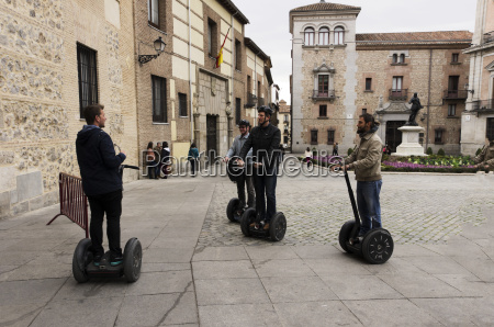 people on a segway tour madrid