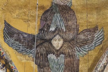 seraphim in dome pendentive of hagia