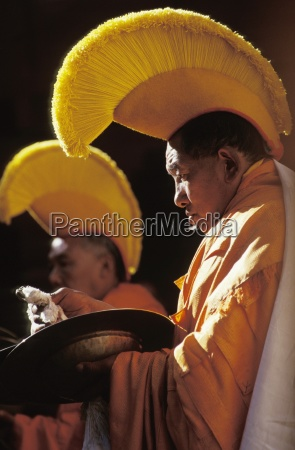 kulturelle, rituale;, kloster, tengboche, region, khumbu, nepal - 25405092