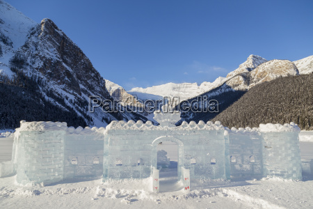 a beautiful ice castle with a