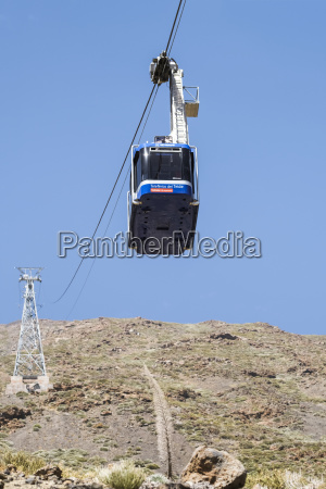 cable car descending from ei teide