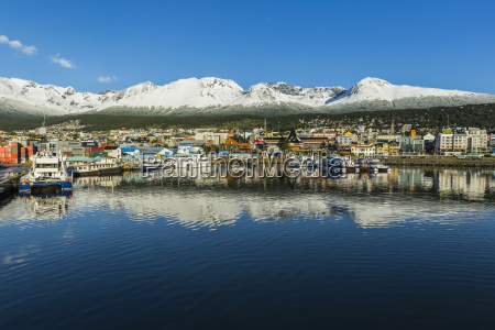 ushuaia an argentina port and snow