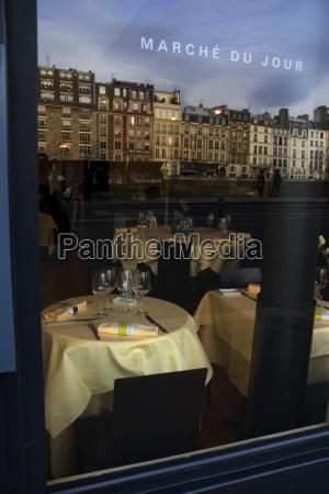 paris france looking into a parisian