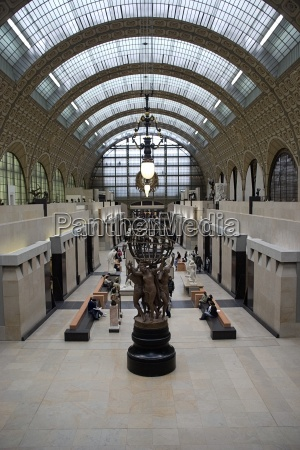 musee dorsay paris france interior of