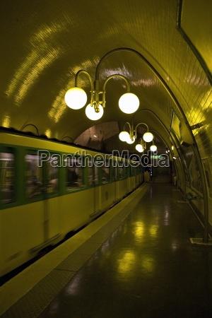 paris france parisian metro subway station