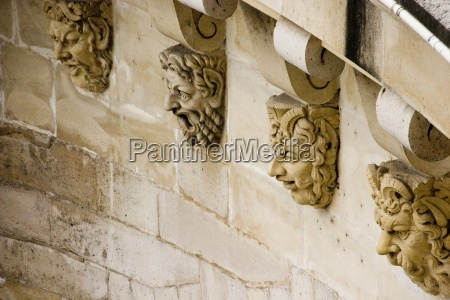 paris france architectural detail of wall