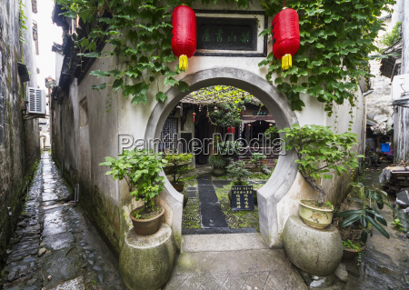 interior garden of a house hongcun