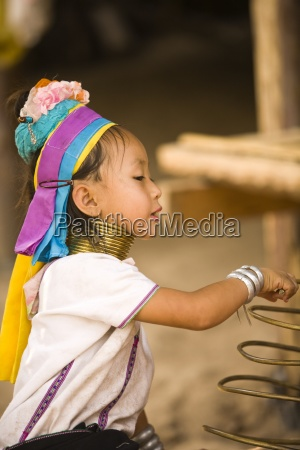 long necked villager chiang mai thailand
