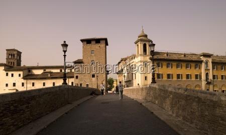 bridge leading to vatican rome italy