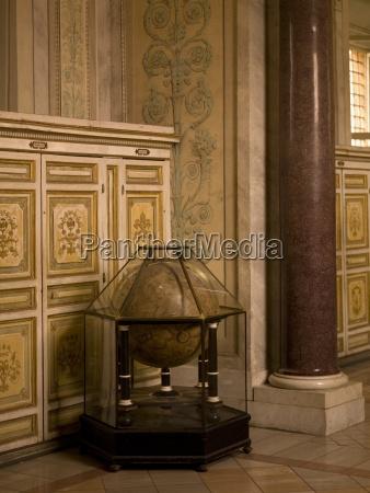 interior of vatican museaum renaissance globe