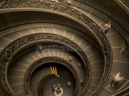 circular staircase in vatican museaum vatican