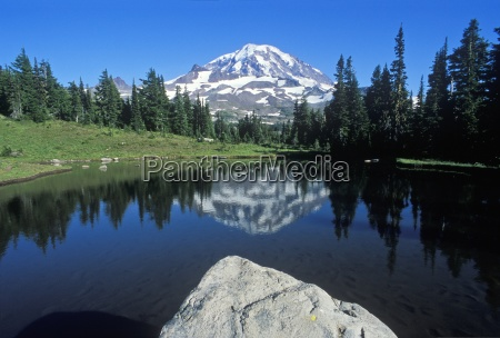 mt rainier from spray park mt