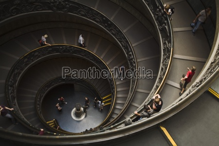 winding staircase in vatican museum roma