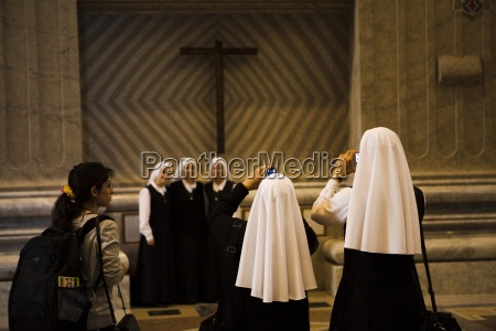 nuns photographing each other vatican city