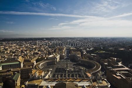 high angle view over saint peters