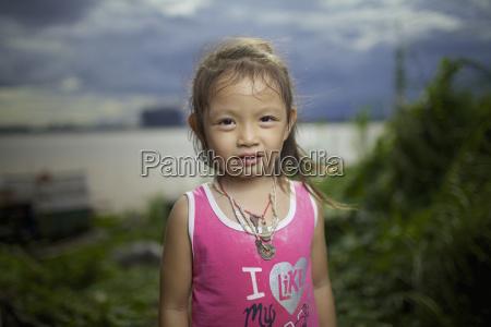 portrait of a khmer girl phnom