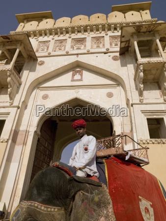 amber fort rajasthan indiaman sitting on