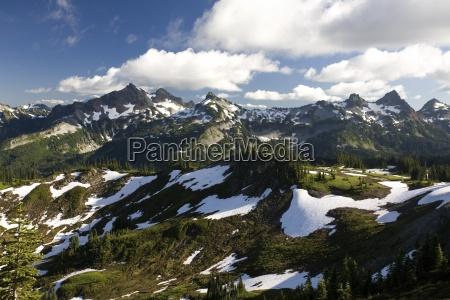 tatoosh mountains in spring season mt